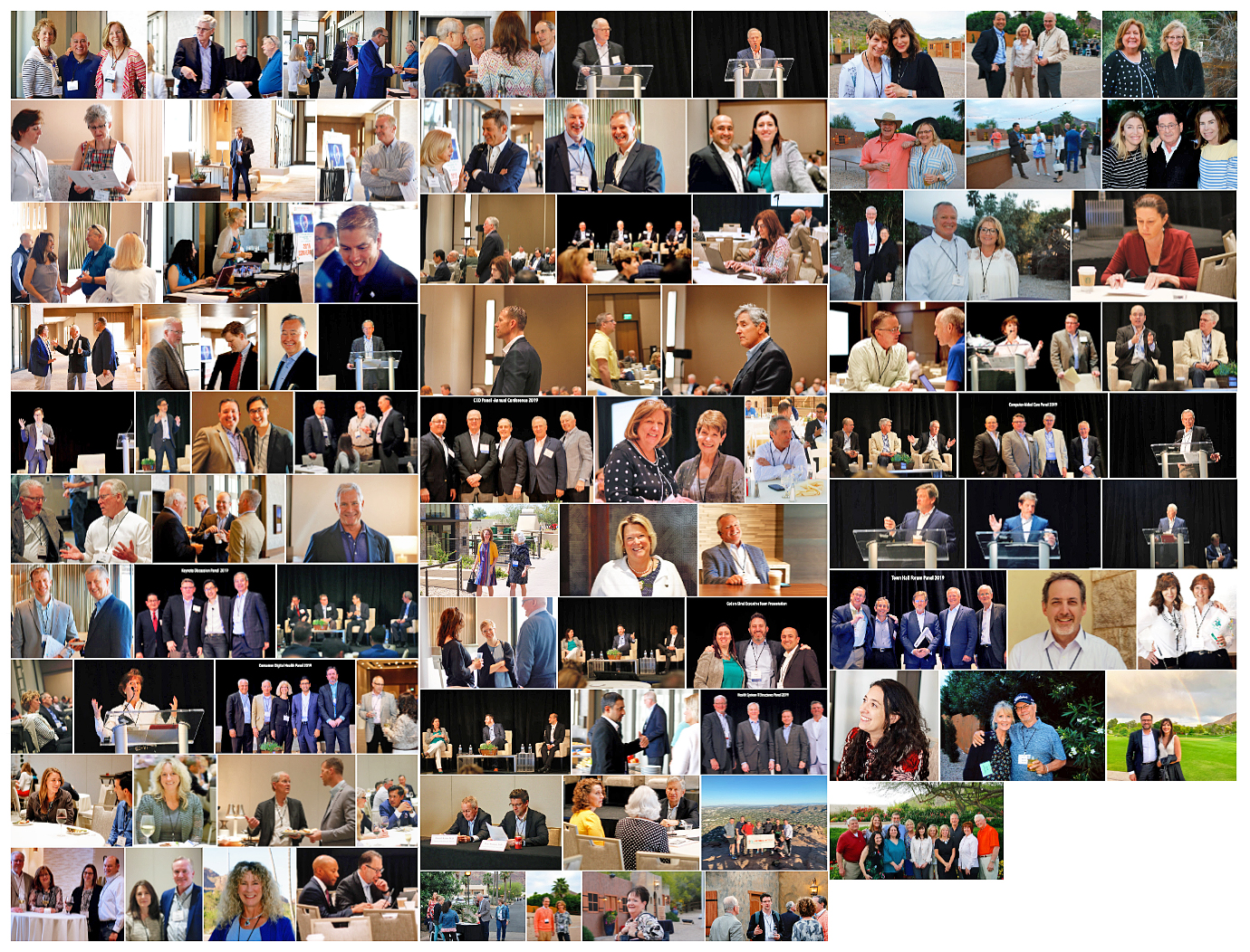 collage of conference photos